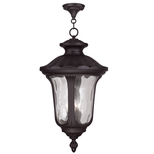 LIVEX Lighting 7865-07 Oxford Chain Lantern in Bronze (3 Light)