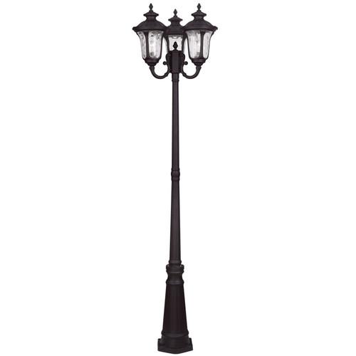 LIVEX Lighting 7866-07 Oxford Outdoor 3 Head Post in Bronze (3 Light)