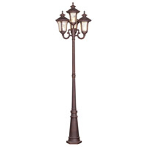 LIVEX Lighting 7669-58 Oxford Outdoor 4 Head Post in Imperial Bronze (4 Light)