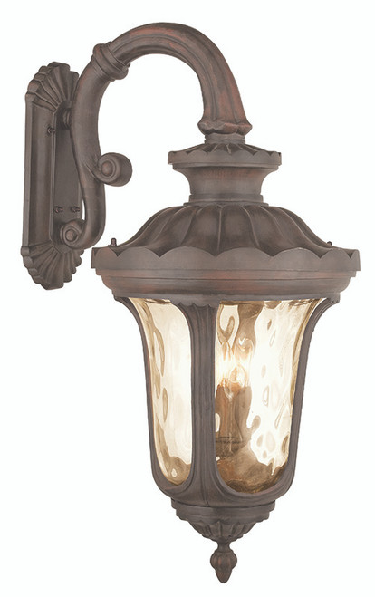 LIVEX Lighting 76702-58 Oxford Outdoor Wall Lantern in Imperial Bronze (4 Light)