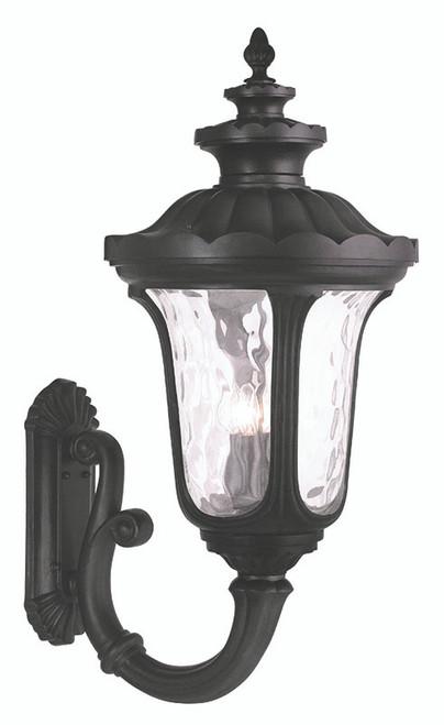 LIVEX Lighting 78700-04 Oxford Outdoor Wall Lantern in Black (4 Light)