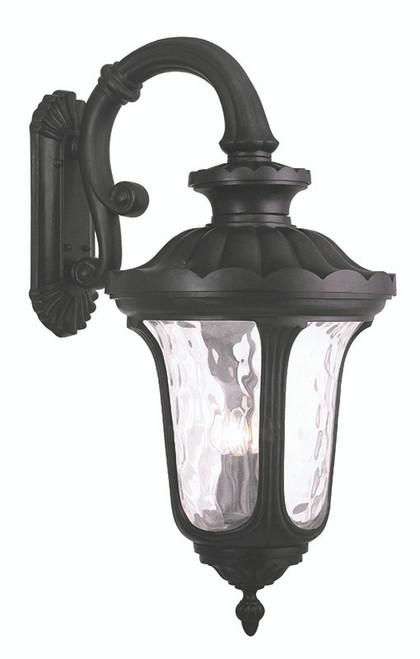 LIVEX Lighting 78701-04 Oxford Outdoor Wall Lantern in Black (4 Light)