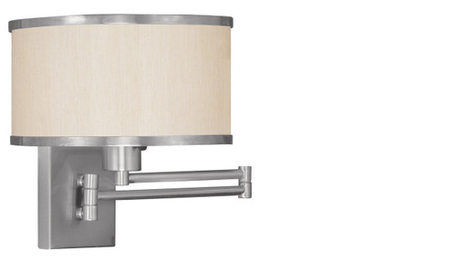 LIVEX Lighting 6279-91 Park Ridge Swing Arm Wall Lamp in Brushed Nickel (1 Light)