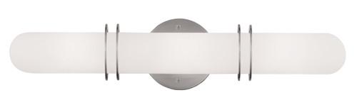 LIVEX Lighting 1903-91 Pelham Contemporary Bath Light in Brushed Nickel (3 Light)
