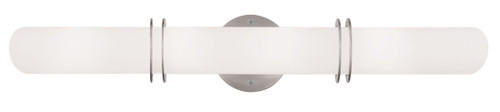LIVEX Lighting 1904-91 Pelham Contemporary Bath Light in Brushed Nickel (4 Light)