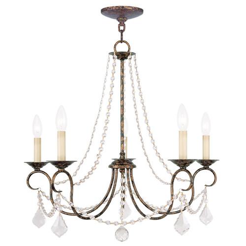 LIVEX Lighting 6515-71 Pennington Chandelier with Hand-Applied Venetian Golden Bronze (5 Light)