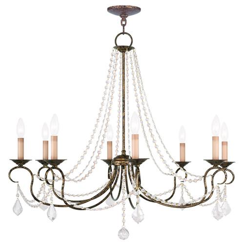 LIVEX Lighting 6518-71 Pennington Chandelier with Hand-Applied Venetian Golden Bronze (8 Light)