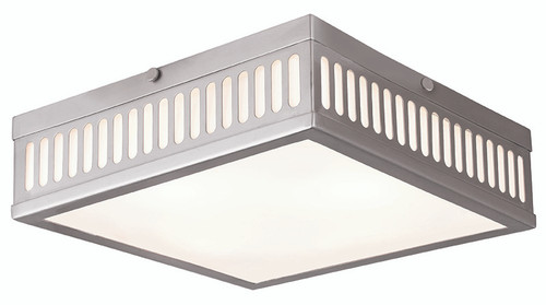 LIVEX Lighting 73164-91 Prentice Flushmount in Brushed Nickel (3 Light)