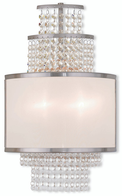 LIVEX Lighting 50782-91 Prescott Wall Sconce in Brushed Nickel (2 Light)