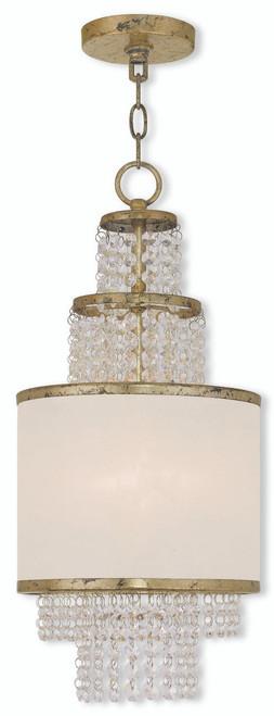 LIVEX Lighting 50780-28 Prescott Mini Chandelier with Hand-Applied Winter Gold (2 Light)