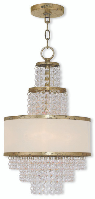 LIVEX Lighting 50783-28 Prescott Mini Chandelier with Hand-Applied Winter Gold (3 Light)