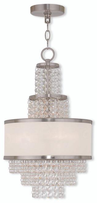 LIVEX Lighting 50783-91 Prescott Mini Chandelier in Brushed Nickel (3 Light)