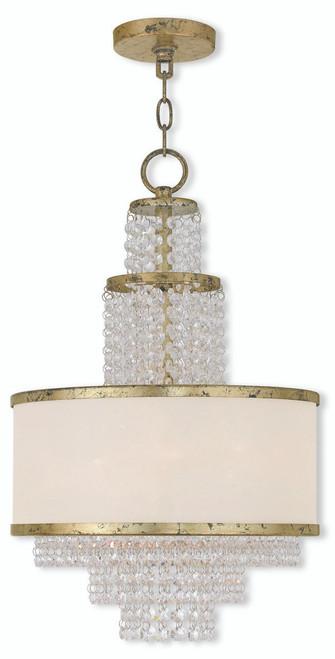 LIVEX Lighting 50784-28 Prescott Mini Chandelier with Hand-Applied Winter Gold (3 Light)