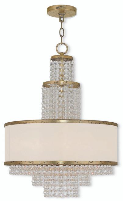 LIVEX Lighting 50785-28 Prescott Chandelier with Hand-Applied Winter Gold (5 Light)
