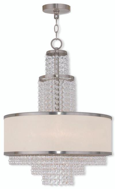 LIVEX Lighting 50785-91 Prescott Chandelier in Brushed Nickel (5 Light)