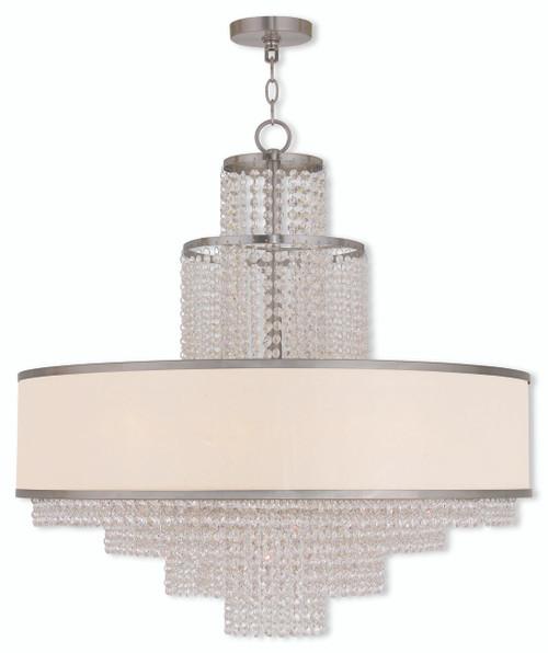 LIVEX Lighting 50788-91 Prescott Chandelier in Brushed Nickel (8 Light)