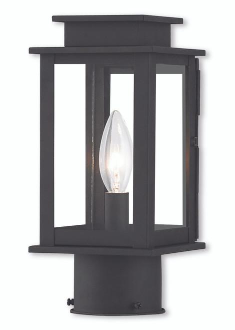 LIVEX Lighting 20201-04 Princeton Post Lantern in Black (1 Light)