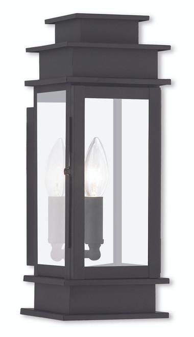 LIVEX Lighting 2013-04 Princeton Wall Lantern in Black (1 Light)