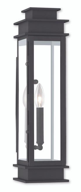 LIVEX Lighting 20207-04 Princeton Wall Lantern in Black (1 Light)