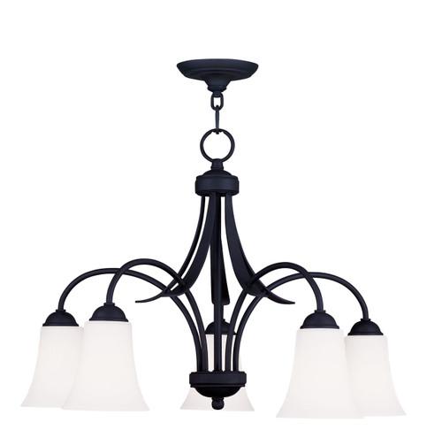 LIVEX Lighting 6476-04 Ridgedale Chandelier in Black (5 Light)
