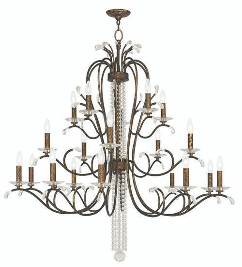LIVEX Lighting 51010-71 Serafina Foyer Chandelier with Hand-Applied Venetian Golden Bronze (20 Light)