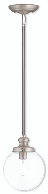 LIVEX Lighting 50902-91 Sheffield Mini Pendant in Brushed Nickel (1 Light)