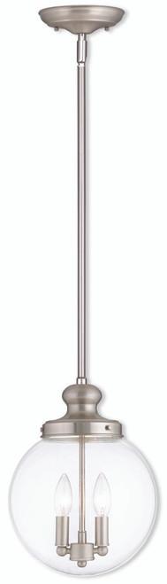 LIVEX Lighting 50904-91 Sheffield Pendant in Brushed Nickel (2 Light)