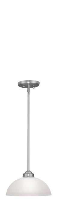 LIVEX Lighting 4211-91 Somerset Pendant in Brushed Nickel (1 Light)
