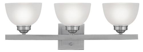LIVEX Lighting 4203-91 Somerset Bath Light in Brushed Nickel (3 Light)