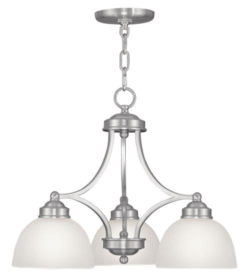 LIVEX Lighting 4223-91 Somerset Chandelier in Brushed Nickel (3 Light)