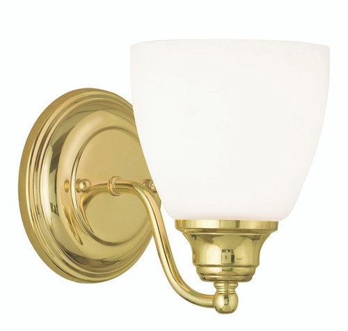 LIVEX Lighting 13671-02 Somerville Wall Sconce in Polished Brass (1 Light)