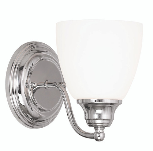 LIVEX Lighting 13671-05 Somerville Wall Sconce in Polished Chrome (1 Light)