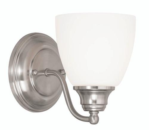 LIVEX Lighting 13671-91 Somerville Wall Sconce in Brushed Nickel (1 Light)