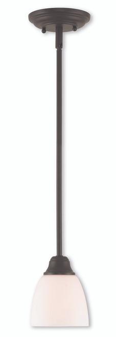 LIVEX Lighting 53850-07 Somerville Mini Pendant in Bronze (1 Light)