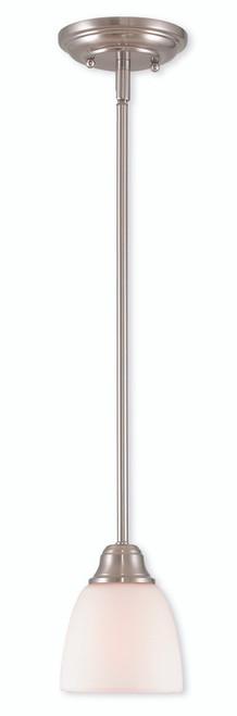 LIVEX Lighting 53850-91 Somerville Mini Pendant in Brushed Nickel (1 Light)