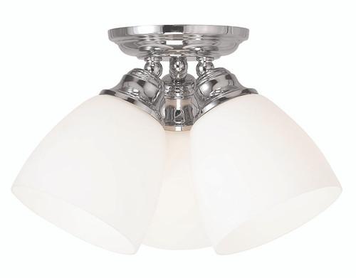 LIVEX Lighting 13664-05 Somerville Flushmount in Polished Chrome (3 Light)