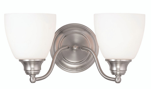 LIVEX Lighting 13672-91 Somerville Bath Light in Brushed Nickel (2 Light)