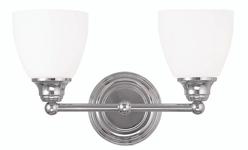 LIVEX Lighting 13662-05 Somerville Bath Light in Polished Chrome (2 Light)
