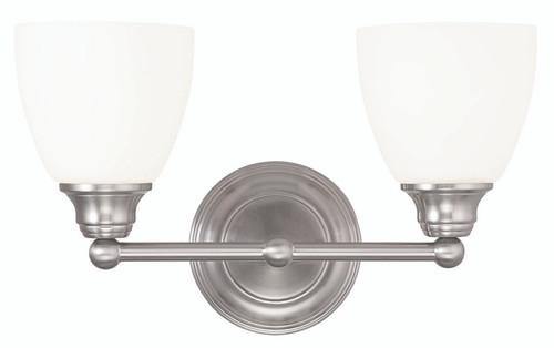 LIVEX Lighting 13662-91 Somerville Bath Light in Brushed Nickel (2 Light)