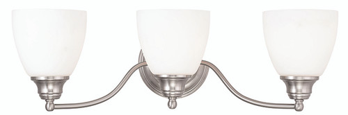 LIVEX Lighting 13673-91 Somerville Bath Light in Brushed Nickel (3 Light)