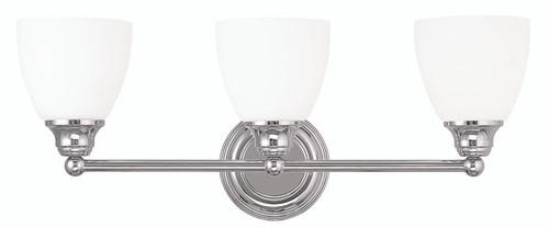 LIVEX Lighting 13663-05 Somerville Bath Light in Polished Chrome (3 Light)