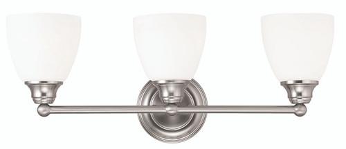 LIVEX Lighting 13663-91 Somerville Bath Light in Brushed Nickel (3 Light)