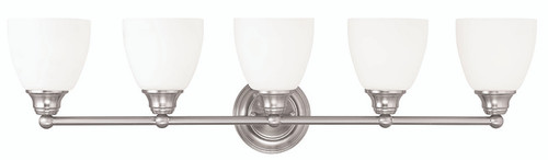 LIVEX Lighting 13665-91 Somerville Bath Light in Brushed Nickel (5 Light)