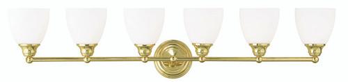 LIVEX Lighting 13666-02 Somerville Bath Light in Polished Brass (6 Light)