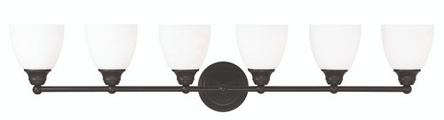 LIVEX Lighting 13666-07 Somerville Bath Light in Bronze (6 Light)