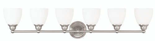 LIVEX Lighting 13666-91 Somerville Bath Light in Brushed Nickel (6 Light)