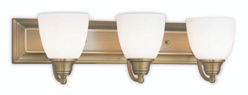 LIVEX Lighting 10503-01 Springfield Bath Light in Antique Brass (3 Light)