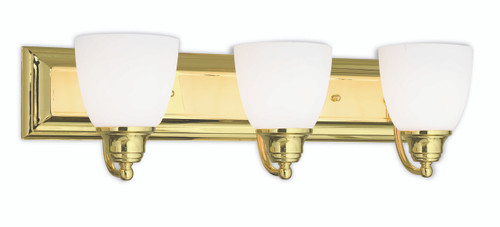 LIVEX Lighting 10503-02 Springfield Bath Light in Polished Brass (3 Light)