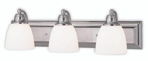 LIVEX Lighting 10503-05 Springfield Bath Light in Polished Chrome (3 Light)