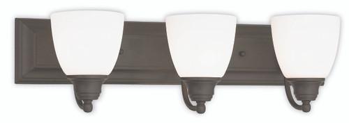LIVEX Lighting 10503-07 Springfield Bath Light in Bronze (3 Light)